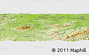 "Physical Panoramic Map of the area around 21° 53' 23"" N, 107° 10' 30"" E"