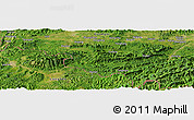 Satellite Panoramic Map of Liuli