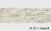 Shaded Relief Panoramic Map of Bản Băng