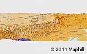 """Political Panoramic Map of the area around 21°53'23""""N,108°1'30""""E"""