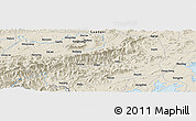 Shaded Relief Panoramic Map of Qianlong