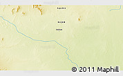 """Physical 3D Map of the area around 21°53'23""""N,13°40'30""""E"""
