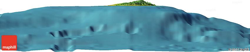 "Satellite Horizon Map of the Area around 21° 53' 23"" N, 158° 1' 30"" W"