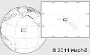 """Blank Location Map of the area around 21°53'23""""N,158°1'30""""W"""