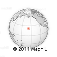 """Outline Map of the Area around 21° 53' 23"""" N, 158° 52' 30"""" W, rectangular outline"""