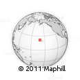 """Outline Map of the Area around 21° 53' 23"""" N, 160° 34' 29"""" W, rectangular outline"""