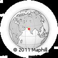 Outline Map of Gondal, rectangular outline