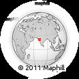 Outline Map of Chhidra, rectangular outline