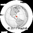 Outline Map of La Gloria, rectangular outline