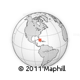 Outline Map of Marbella, rectangular outline