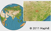 """Satellite Location Map of the area around 21°53'23""""N,79°58'29""""E"""
