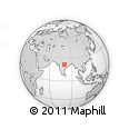 """Outline Map of the Area around 21° 53' 23"""" N, 79° 58' 29"""" E, rectangular outline"""