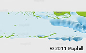 """Physical Panoramic Map of the area around 21°53'23""""N,81°31'30""""W"""