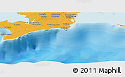 """Political Panoramic Map of the area around 21°53'23""""N,84°4'29""""W"""