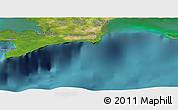 "Satellite Panoramic Map of the area around 21°53'23""N,84°4'29""W"