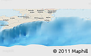 """Shaded Relief Panoramic Map of the area around 21°53'23""""N,84°4'29""""W"""