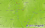 """Physical Map of the area around 21°53'23""""N,95°16'30""""E"""