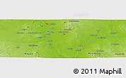 """Physical Panoramic Map of the area around 21°53'23""""N,95°16'30""""E"""