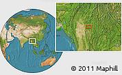 Satellite Location Map of Zigon