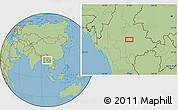 Savanna Style Location Map of Zigon