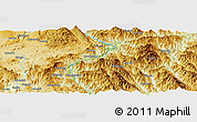 """Physical Panoramic Map of the area around 21°53'23""""N,98°40'30""""E"""