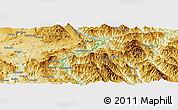 Physical Panoramic Map of Mān Pānghūng