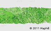 Political Panoramic Map of Mān Pānghūng