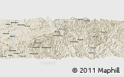 Shaded Relief Panoramic Map of Longwai