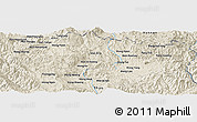 Shaded Relief Panoramic Map of Wān Ho-hawm