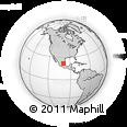 Outline Map of Rytų Siera Madrė, rectangular outline