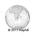Outline Map of Matabeleland South Province, rectangular outline