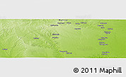 "Physical Panoramic Map of the area around 21° 3' 11"" S, 33° 13' 30"" E"
