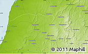 """Physical Map of the area around 21°3'11""""S,44°16'29""""E"""