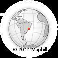 Outline Map of São João Del Rei, rectangular outline
