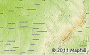 """Physical Map of the area around 21°3'11""""S,45°7'30""""E"""
