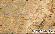 "Satellite Map of the area around 21°3'11""S,45°7'30""E"