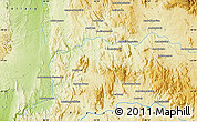 """Physical Map of the area around 21°3'11""""S,45°58'30""""E"""