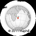 "Outline Map of the Area around 21° 3' 11"" S, 45° 58' 30"" E, rectangular outline"