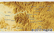 """Physical 3D Map of the area around 21°3'11""""S,46°49'30""""E"""