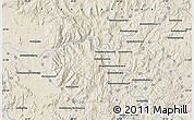 """Shaded Relief Map of the area around 21°3'11""""S,46°49'30""""E"""