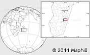 """Blank Location Map of the area around 21°3'11""""S,47°40'29""""E"""