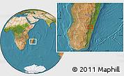 "Satellite Location Map of the area around 21°3'11""S,47°40'29""E"