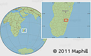 "Savanna Style Location Map of the area around 21°3'11""S,47°40'29""E"