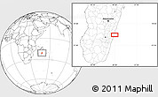 Blank Location Map of Mananjary