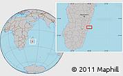 Gray Location Map of Mananjary