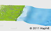 "Physical Panoramic Map of the area around 21° 3' 11"" S, 48° 31' 29"" E"