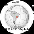 Outline Map of Palmares Paulista, rectangular outline