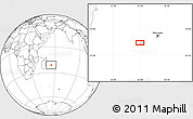 """Blank Location Map of the area around 21°3'11""""S,55°19'30""""E"""