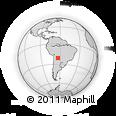 Outline Map of Villamontes, rectangular outline