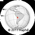 Outline Map of Quehuita, rectangular outline